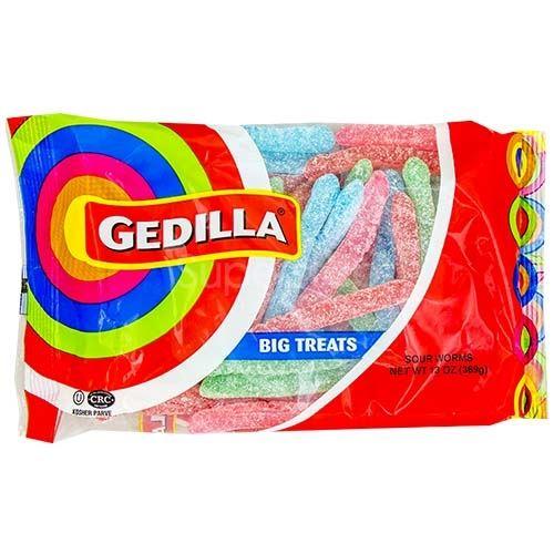 gedilla big treats sour worms 13 oz superstopnj com online